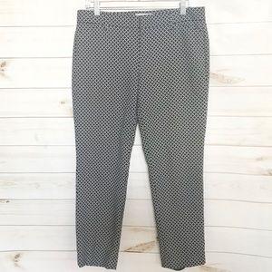 Gap Black White Slim Cropped Pixi Style Pants 4